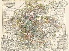 🔥⚔️🏇⚔️🔥ORIGINAL 166 Jahre alte Landkarte DEUTSCHLAND 30 jähriger Krieg 1854