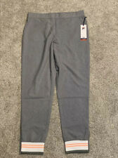 Womens Fila Gray Workout Exercise Sweat Pants W/ Zipper On Bottoms |Xl | Lot 430