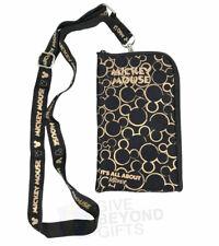 Disney Mickey Mouse Gold Logo Lanyard ID Ticket Badge Key Chain Iphone Holder