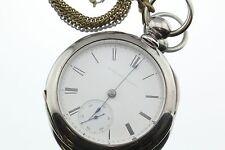 Antique 1873 Elgin Coin Silver 11 Jewel Size 18s G.M. Wheeler Pocket Watch