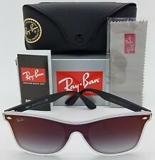 NEW Rayban Blaze Wayfarer sunglasses RB4440NF 6355/UO Black Red Mirror Gradient