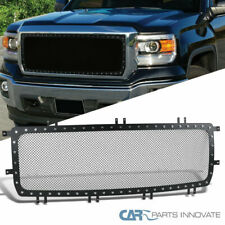 For GMC 14-15 Sierra 1500 Rivet Textured Black Stud S/S Mesh Upper Grille Insert