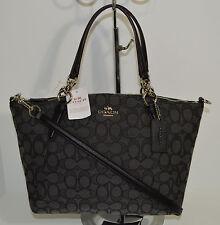 Coach Signature Small Kelsey Black Smoke Satchel/Handbag/Crossbody F36625 NWT