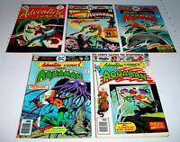 Adventure Comics #'s 439, 442, 443, 445, & 4446  5 Issue Lot 1975/76 DC Comics