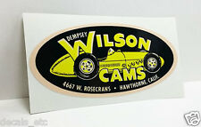 Dempsey Wilson Cams Vintage Style DECAL, Vinyl STICKER, rat rod, racing, hot rod