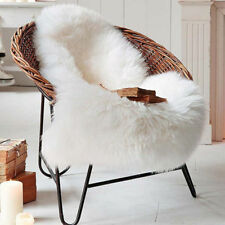 Soft Sheepskin Chair Cover Home Sofa Warm Hairy Seat Pad Plain Skin Fur Carpet