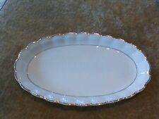 "Vintage Walbrzych Poland Porcelain 13""x8"" Oval Serving Plate W/Gold Trim"