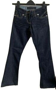 River Island Size 6 Blue Bootcut Jeans -(C96)