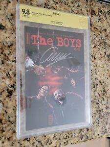 The Boys #1 Exclusive Signed by Garth Ennis CBCS 9.8 BAM Comic Box