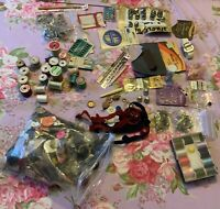 Lot Of Vintage Sewing Items Notions Latches Hooks Buttons Needles