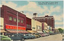 East Side of Center Street Looking South in Goldsboro NC Postcard