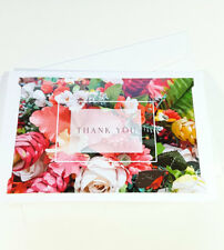 Thank You Cards Notes Flower Wedding Business Birthday Thankful AT THANK52