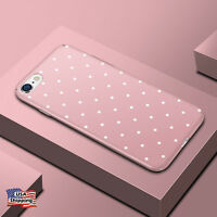 Hybrid Shockproof Hard Polka Dot Ultra Thin Case Cover For iPhone X 8 7 Plus 6s