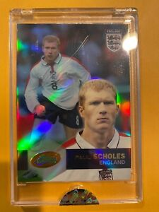 2004 eTopps PAUL SCHOLES England Soccer only 1503 made Uncirculated