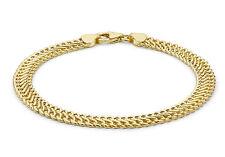 """9ct Or Jaune Tressée Tricotée Bracelet À Gros Maillons 19cm/7.5"""" Inclus De Luxe"""