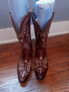 Lucchese  Charlie 1 Horse Caramel Nappa Leather Western Cowboy Boots 9.5 B