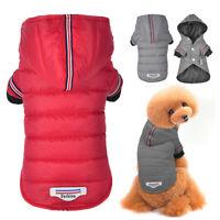 Ropa para perros pequeños Invierno Abrigo Capa Chaqueta para Mascota Gris Rojo