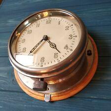 Ship clock Soviet Union Watch Submarine Cabin Vintage 1950.