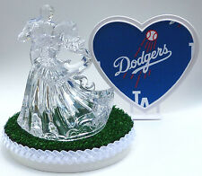 Wedding Cake Topper Los Angeles Dodgers La Themed Clear Couple Dancing w/Garter