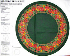 "Christmas Tree Skirt Fabric ~ 100% Cotton 35"" Project Panel ~ VIP Yuletide Green"