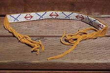 Northwestern Native American Style Hand Beaded Hat Band Leather free shipping