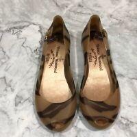 Melissa Vivienne Westwood Women's Size 5 Slip On Scented Flats Peep Toe