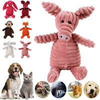 Cute Pet Cat Dog Puppy Chew Toy Squeaker Squeaky Soft Plush Play Sound Teeth Toy