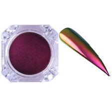 0.5g Chameleon Mirror Nail Powder Dust Nail Art Chrome Pigment Black Base Needed