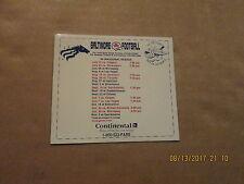 Cfl Baltimore Cfl Football Vintage Defunct 1994 Inaugural Season Magnet Schedule