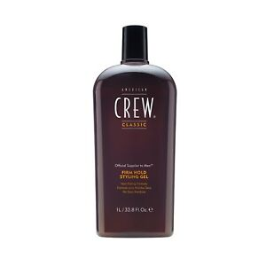 American Crew Classic Firm Hold Gel 33.8 oz / Liter alcohol-free adds thickness