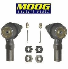 For Ford Escort Pair Set of 2 Front Outer Steering Tie Rod Ends Moog ES3048RL