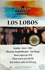 "LOS LOBOS ""40 YEAR ANNIV. TOUR"" 2014 SAN DIEGO CONCERT POSTER-Chicano Rock Music"