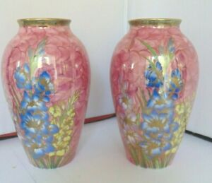 Large pair of Maling ware Vases 8 1/2 inches