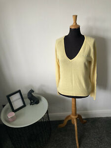 Polo Jeans Company Silk / Cashmere Jumper Size XL (UK 14-16)- Col: Lemon