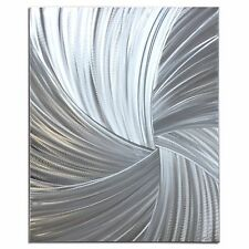 Starburst Abstract Metal Wall Art Contemporary Silver Decor Classy Modern Design