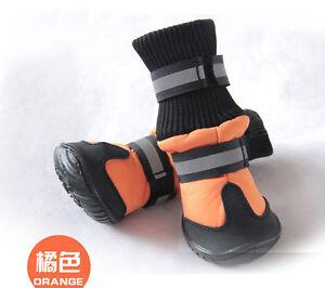 4Pcs Waterproof Pet Dog Shoes Anti-Slip Protective Boots Labrador Husky Protect