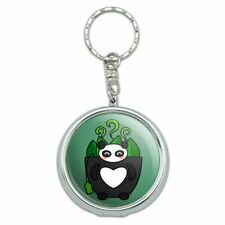 Green Tea in Giant Panda Bear Mug Portable Travel Ashtray Keychain