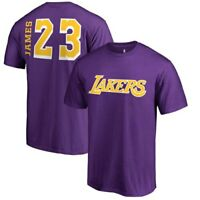 LeBron James Los Angeles Lakers Fanatics Branded Sidesweep Name & Number T-Shirt