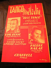 Partition Tango Melodie Kiss Tango Tino Rossi Pierre Malar  Music Sheet