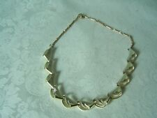 VINTAGE SIGNED CORO SHELL GOLD TONE NECKLACE