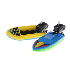 Kid Outdoor Pool Ship Toy Wind Up Swimming Motorboat Boat Toy For baby gift H&P