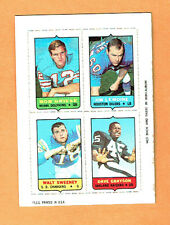 BOB GRIESE, LEMOINE, SWEENEY, GRAYSON 1969 TOPPS FOUR-IN-ONE See Pics Com S&H