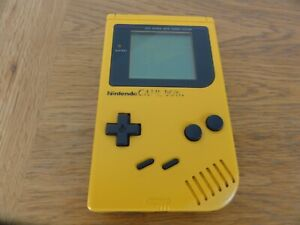 Original Nintendo GameBoy DMG-01 - Yellow - TESTED- Working + 1 GAME