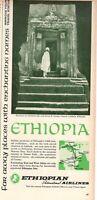 1967 Original Advertising' Vintage Ethiopian Airlines St.George Church Lalibela