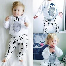 Newborn Infant Baby Babies Cotton Long Sleeve Spring Tops Long Pants Trousers