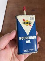 Vintage Sunoco HANDY OILER Household Oil Tin 4 ounce tin