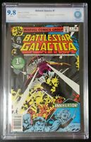 Battlestar Galatica #1 Marvel Comics 1979 CBCS 9.8 White Pages TV Adaptation