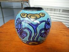 BEAUTIFUL ART NOUVEAU FRENCH POTTERY SIGNED VASE