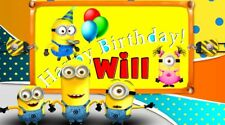 'HAPPY MINION BIRTHDAY' Personalised Photo Show DOWNLOAD $69.95