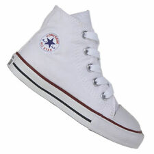 Scarpe bianchi medi in tela per bambini dai 2 ai 16 anni